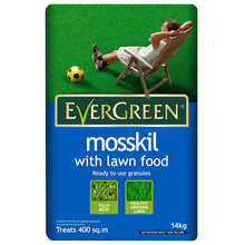 Evergreen Mosskil with Lawn Food 400m2 14kg Healthy Green Lawn Care Kills Moss