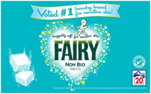 Fairy Non Bio Tablets 40 Tablets 20 Washes Sensitive Skin Laundry Detergent