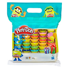 Hasbro Play-Doh 50 x 28g Sealed Pots 1400g Various Colours Creative Craft Play