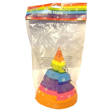 Fun Machine Happy Birthday Party Hats 8 Pack Childrens Celebration Decoration Rainbow Colour