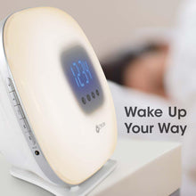 Ottlite LED Wake Up Light & Alarm Clock FM Radio USB Colour Changing
