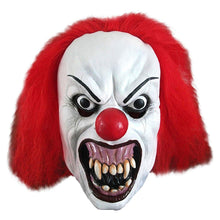 Scream Machine Snarling Terror Clown Latex Mask Halloween It Style Fancy Dress