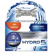 Wilkinson Sword Pack of 4 Hydro 5 Shaving Razor Refill Blades Replacement Spare