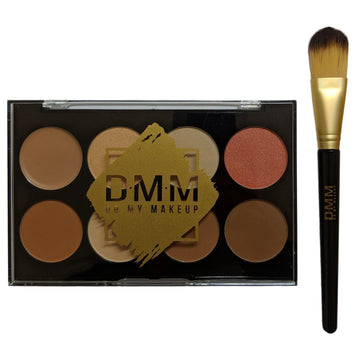 DMM Contour Collection Makeup Palette Concealer Highlighter Blush Bronzer Brush
