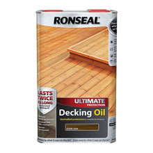 Ronseal Ultimate Protection Decking Oil 5L Wood Waterproof Sun Rain Protector