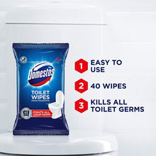 Domestos Toilet Wipes Fresh Fragrance - 40 Wipes Fight Kill Germs