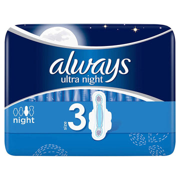 Always Ultra Night Size 3 40 Pads Pack Flex Fit System Absorbent Comfortable