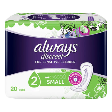 Always Discreet 6 Packs x 20 Pads Small Incontinence Sensitive Bladder 120 Total