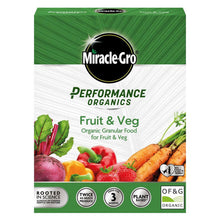 Miracle-Gro Performance Organics Fruit & Veg Plant Feed Granular Food 1kg