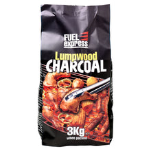 Fuel Express Lumpwood Charcoal 3kg Fast Easy Lighting High Quality Heat Output
