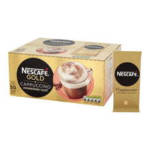 Nescafe Gold Cappuccino Unsweetened Sachets 50 Pack Instant Coffee One Cup / Mug