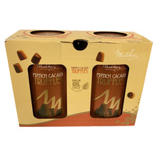 Mathez Chocolatier French Cacao Truffles 2 x 500g Decorative Tins Cocoa Dusted Chocolates