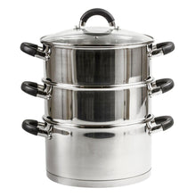 Royal Cuisine 3-Tier 20cm Stainless Steel Dishwasher Induction Steamer Pot + Lid