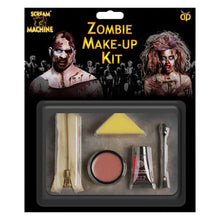 Scream Machine Zombie Zipper Special Effects Set Fake Blood Skin Halloween
