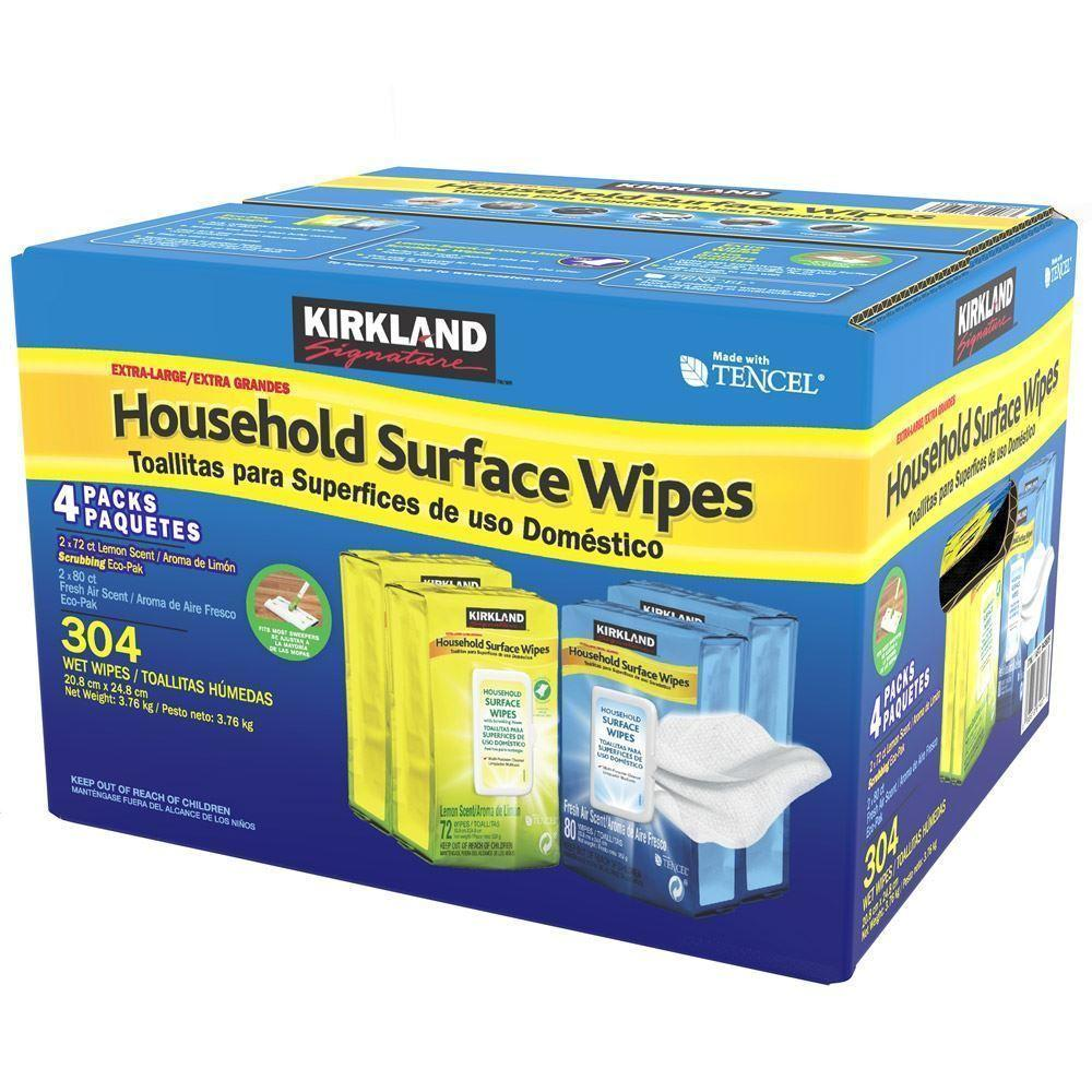Kirkland Surface 304 Wipes Household Office Bathroom Home Surface Cleaning XL