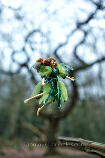 Fosette Green Fairy Doll Christmas Decoration