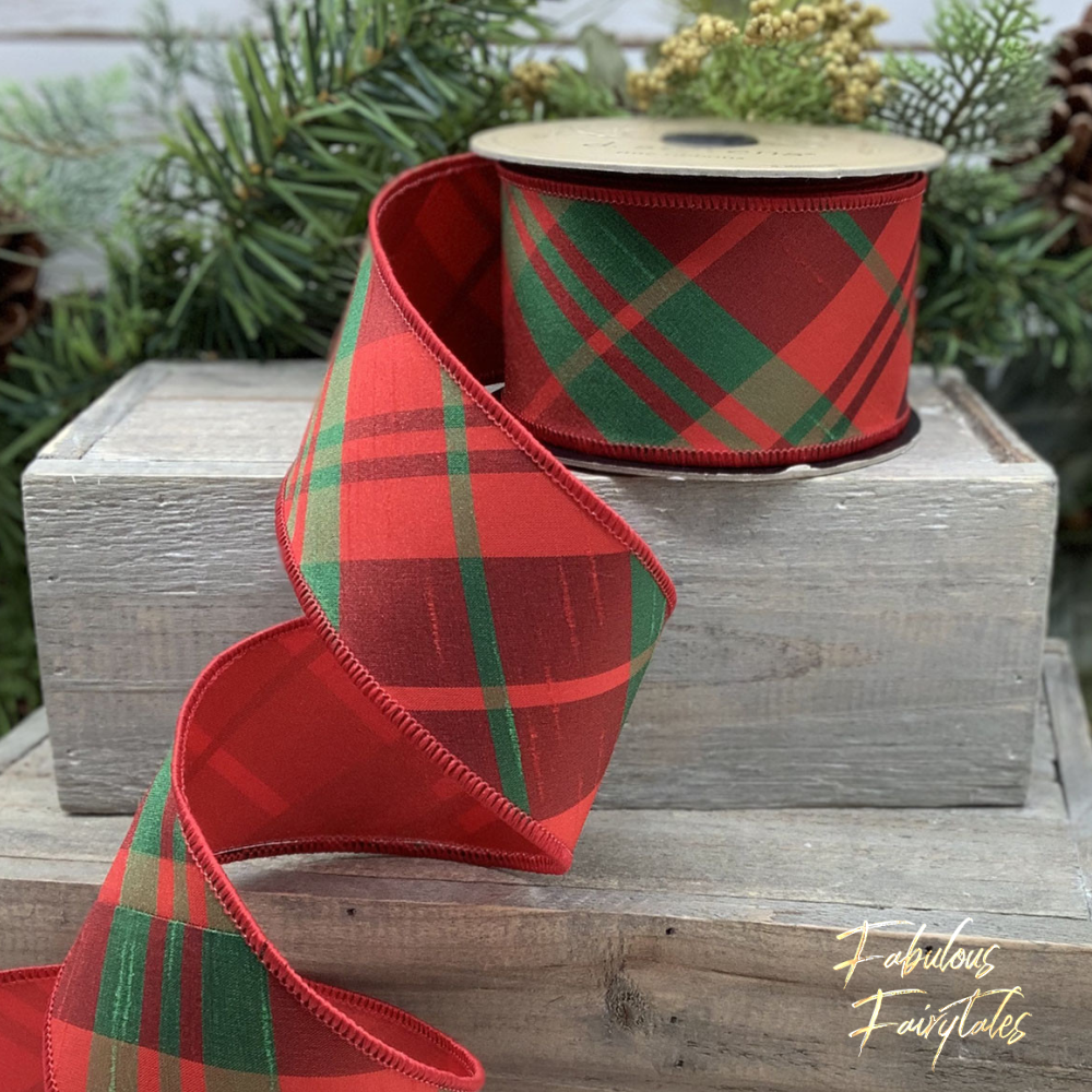D Stevens Luxury Scottish Tartan Christmas Ribbon