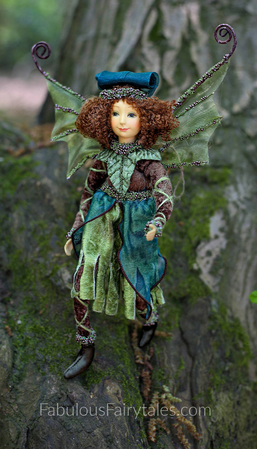Fabulous Fairytales Luxury Christmas Forest Fairy Doll Ornament