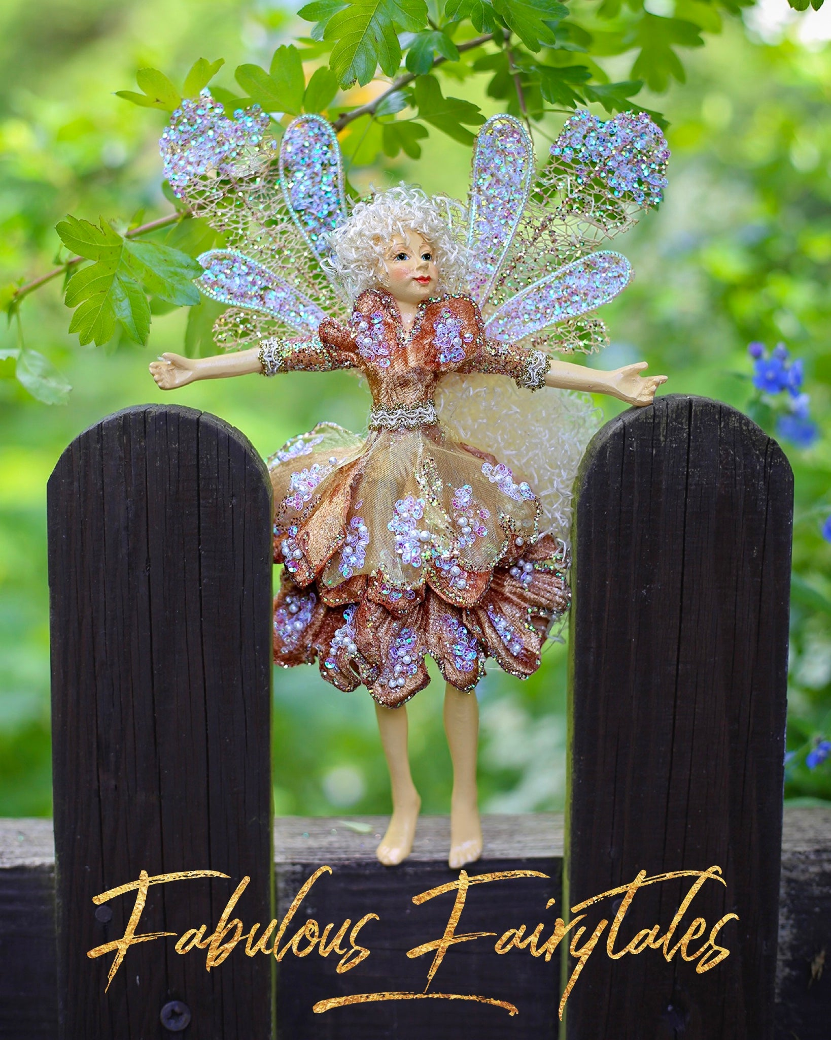 Peachy Teatime Fairy Decoration
