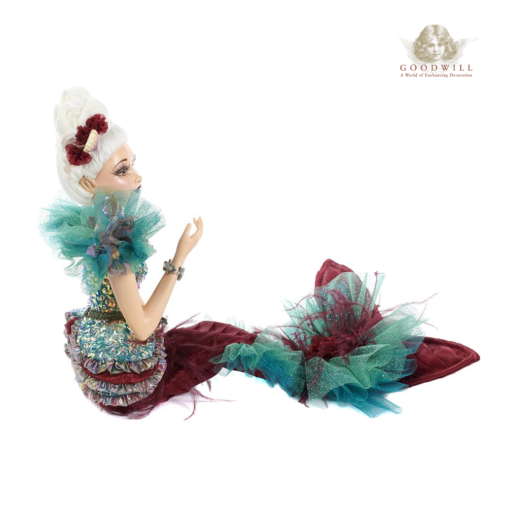 Goodwill Aqua Baroque Mermaid Display Doll