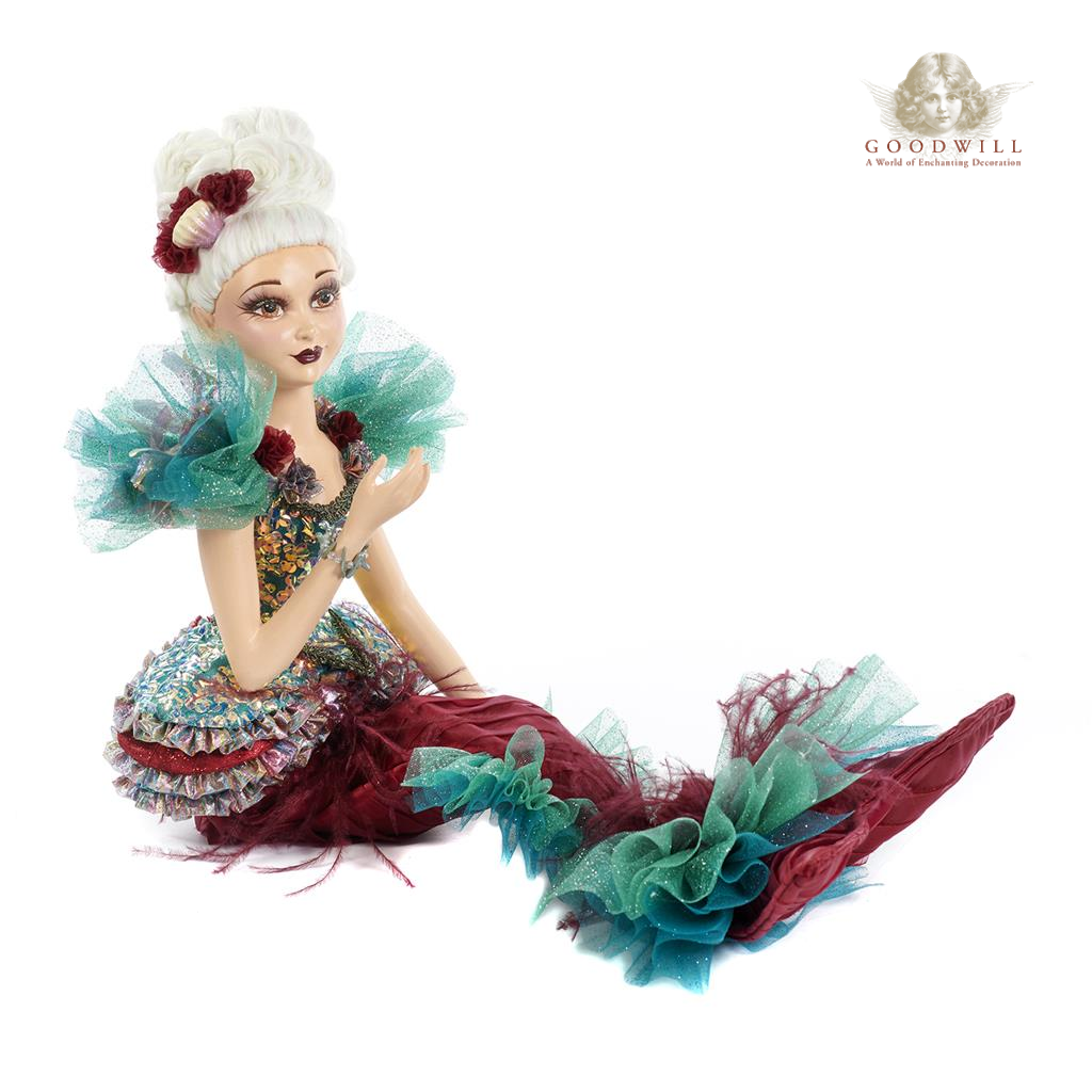 Goodwill Belgium Aqua Baroque Mermaid Display Doll