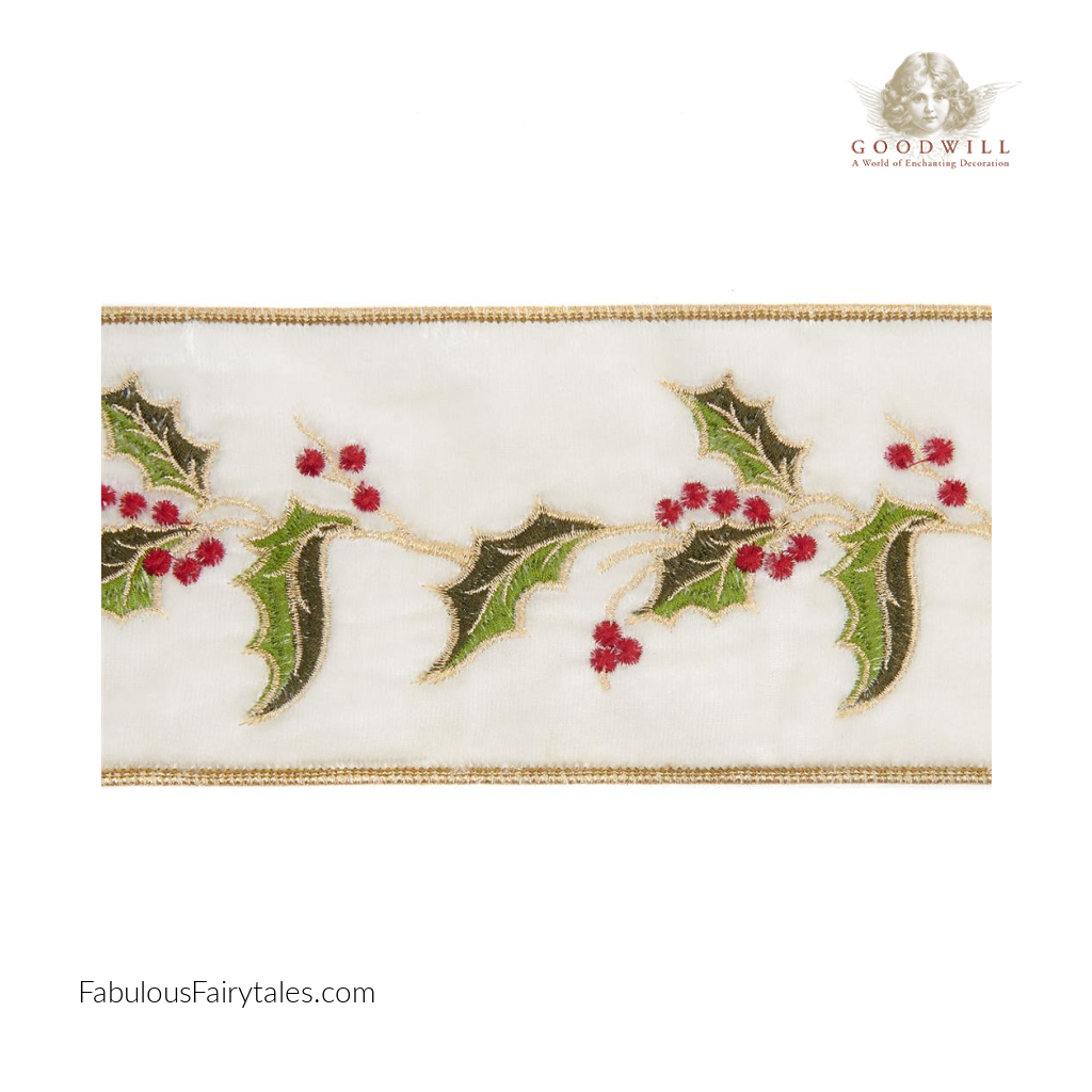 Goodwill Belgium Velvet Holly Leaf Ribbon