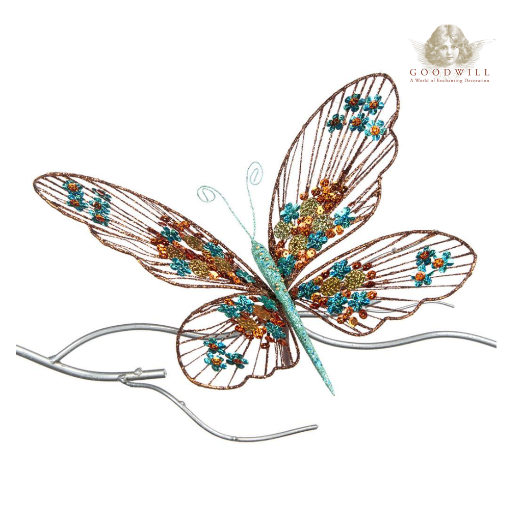 Goodwill Copper Verdigris Wire Sequin Butterfly