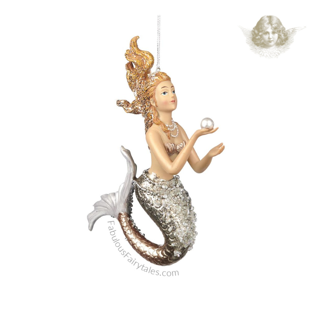 Goodwill Arctic Pearl Mermaid Christmas Tree Ornament