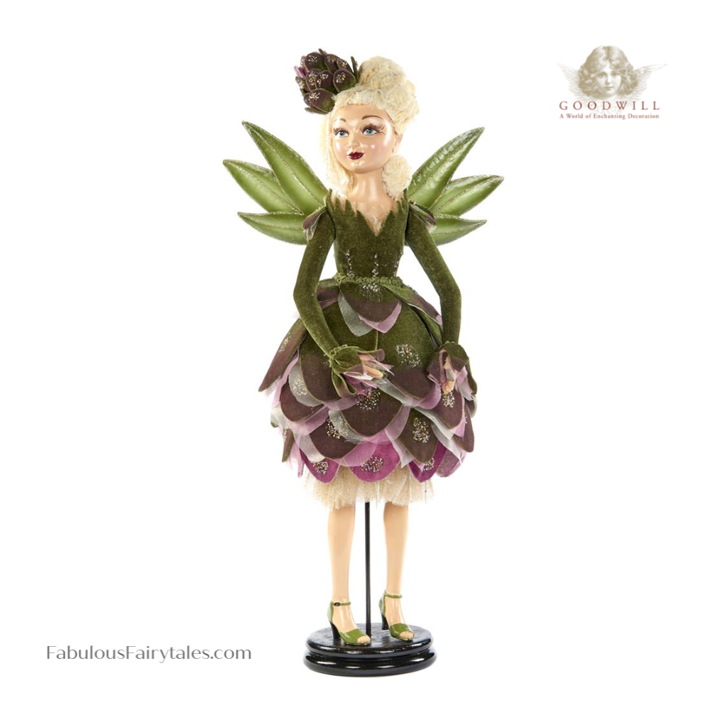Goodwill Luxury Christmas Artichoke Fairy Display Doll with Stand