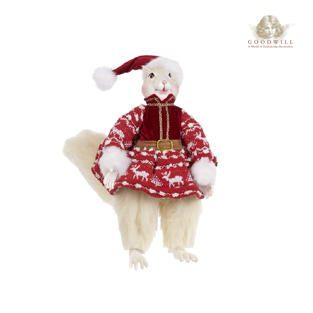 Goodwill Belgium 2021 Lapland Squirrel Christmas Figures 35cm