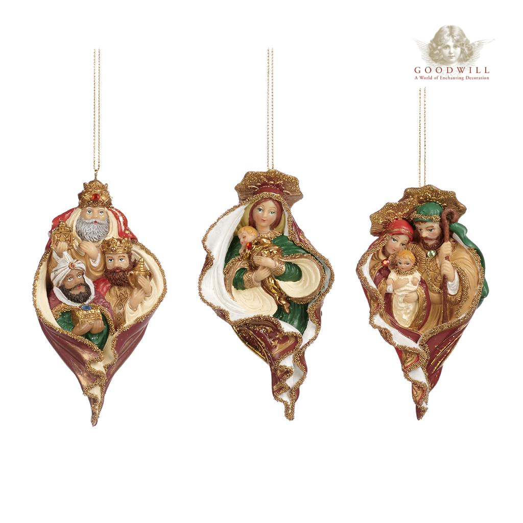 Goodwill Belgium Holy Family Kings Madonna Christmas Ornament