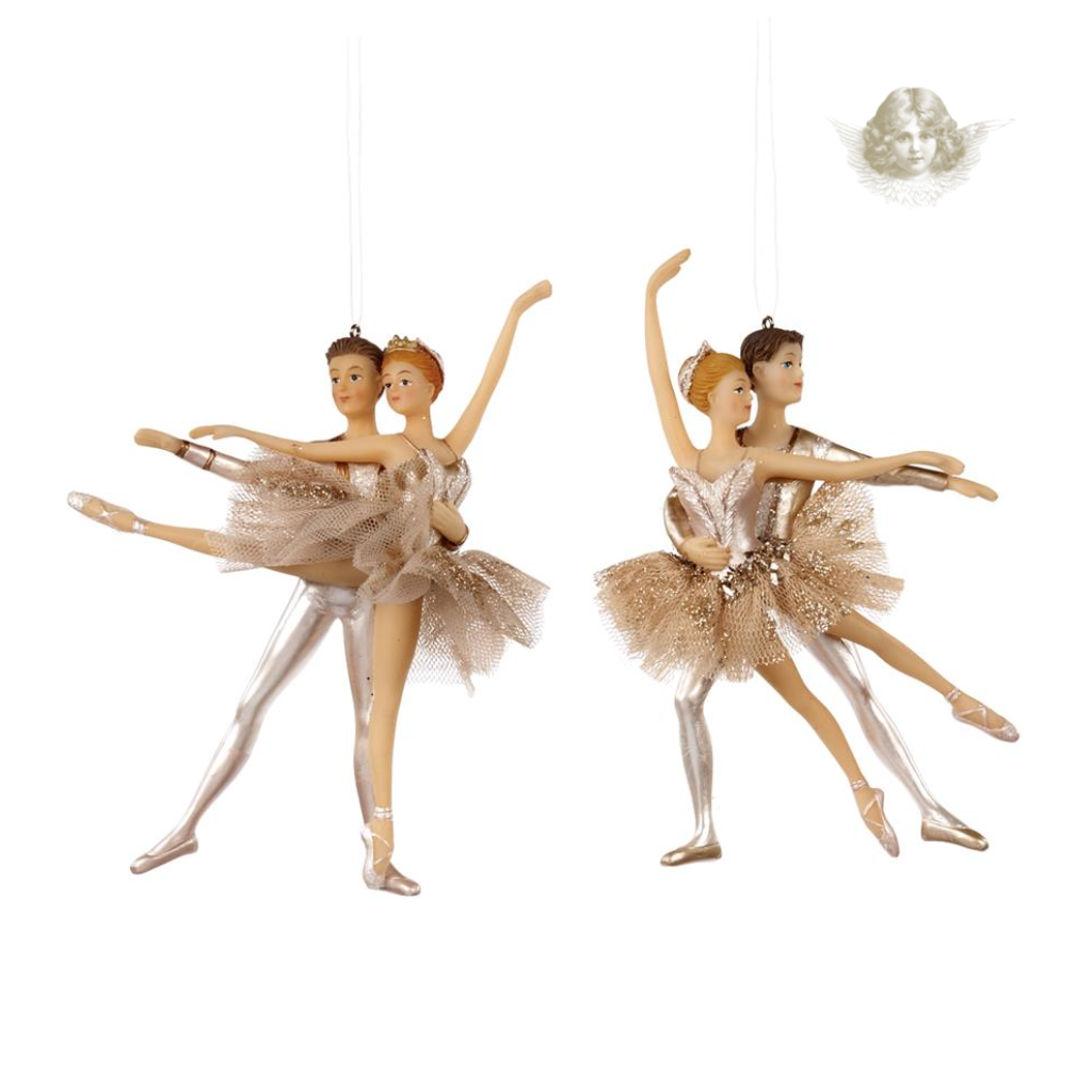 Champagne Ballet Dancers Christmas Decorations