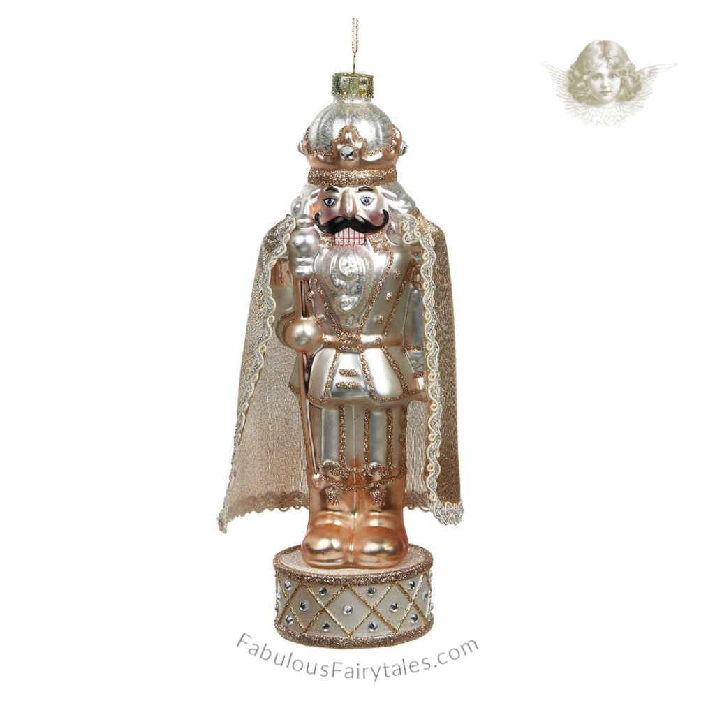 Nutcracker King Glass Tree Decoration