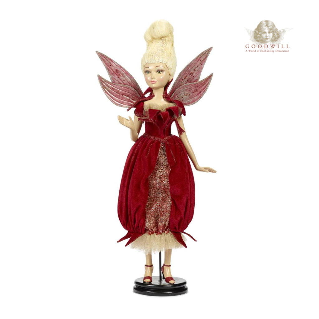 Goodwill Luxury Pomegranate Fairy Christmas Decoration with Stand