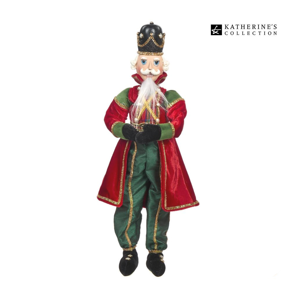 Katherine's Collection Lanky Leg Royal Christmas Nutcracker Decoration
