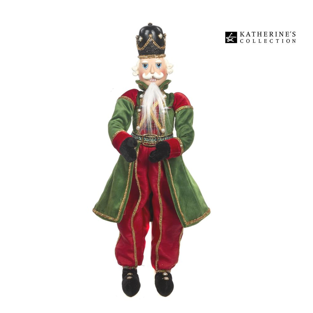Katherine's Collection Lanky Leg Nutcracker Christmas Display Figure