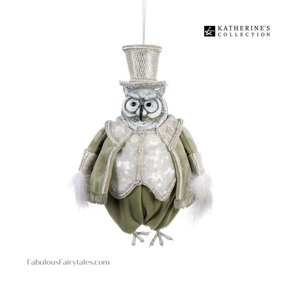 Katherine's Collection Peace on Earth Owl Tree Ornament