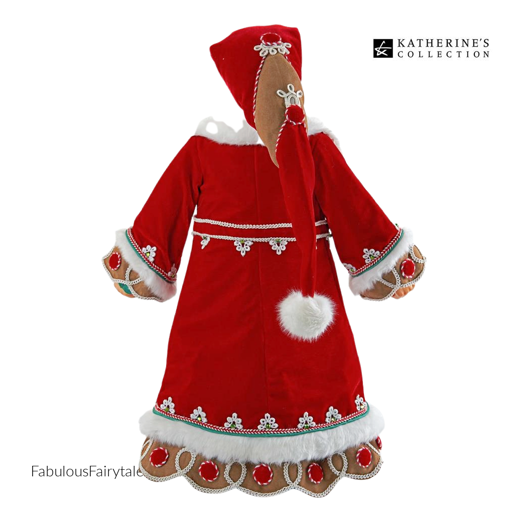 Katherine's Collection 2021 Gingerbread Santa Cluas Doll