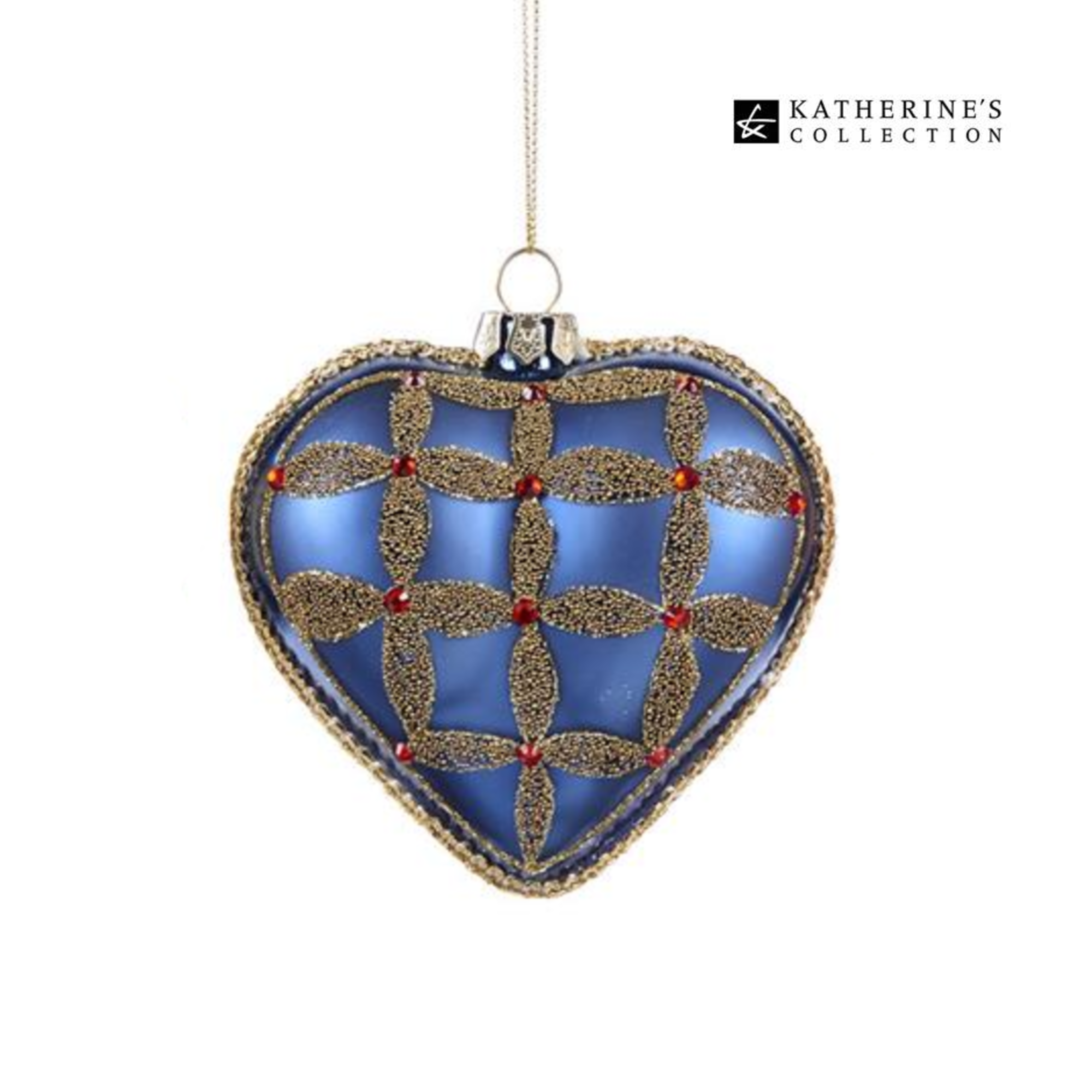 Katherines Collection Glass Royal Heart Ornaments