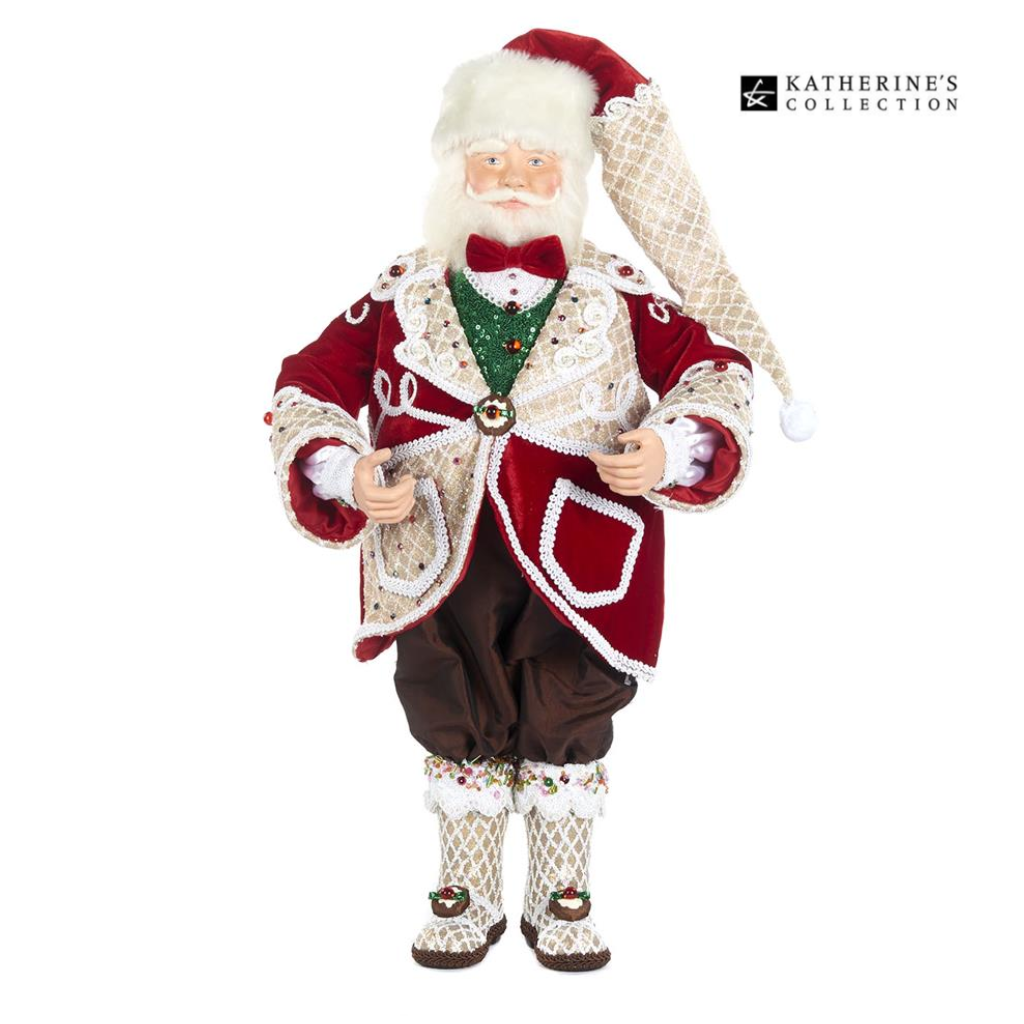 Katherines Collection Sweet Xmas Santa Luxury Christmas Doll