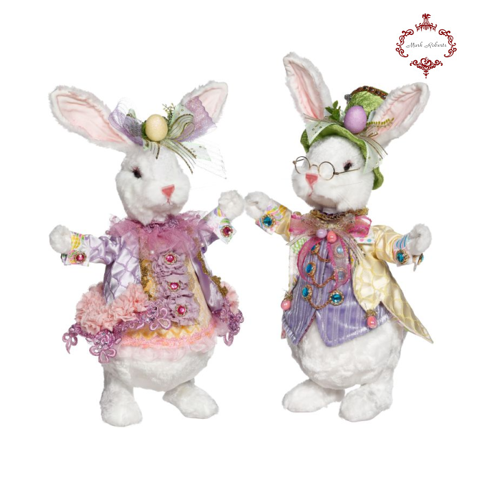 Mark Roberts Fluffy Happy Easter Bunny Collectibles UK