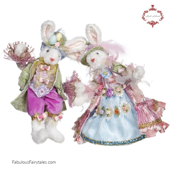 Mark Roberts Mr Mrs Easter Bunny Figures
