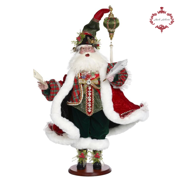Mark Roberts Naughty or Nice Santa Christmas Display Doll
