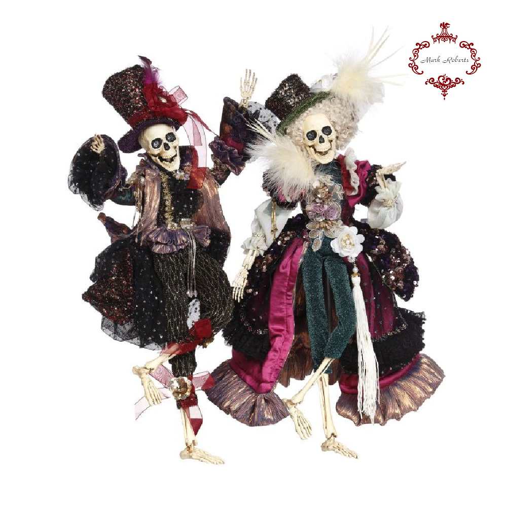 Mark Roberts Halloween Regal Fashion Skeletons Small
