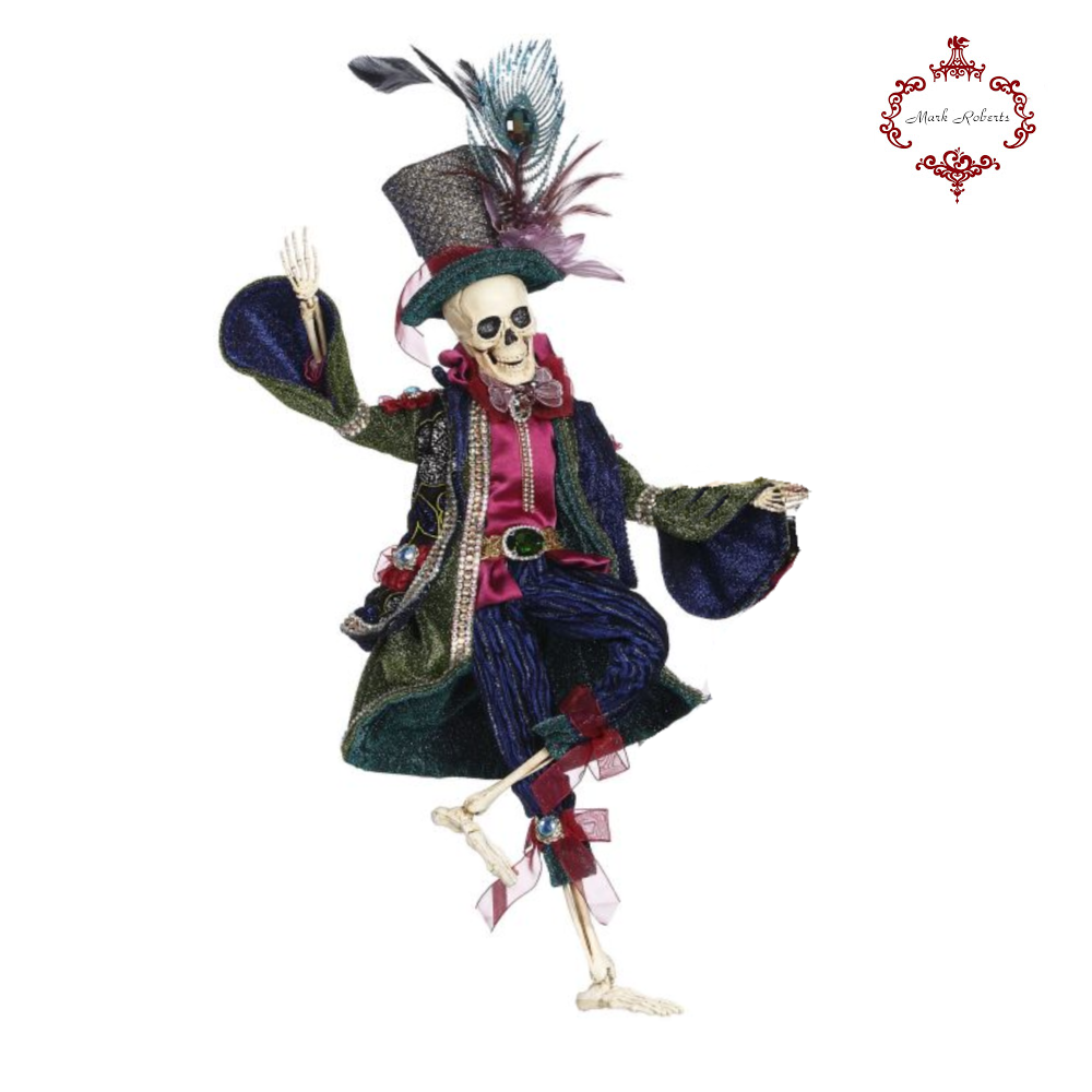 Mark Roberts Halloween Peacock Skeleton Figures Small