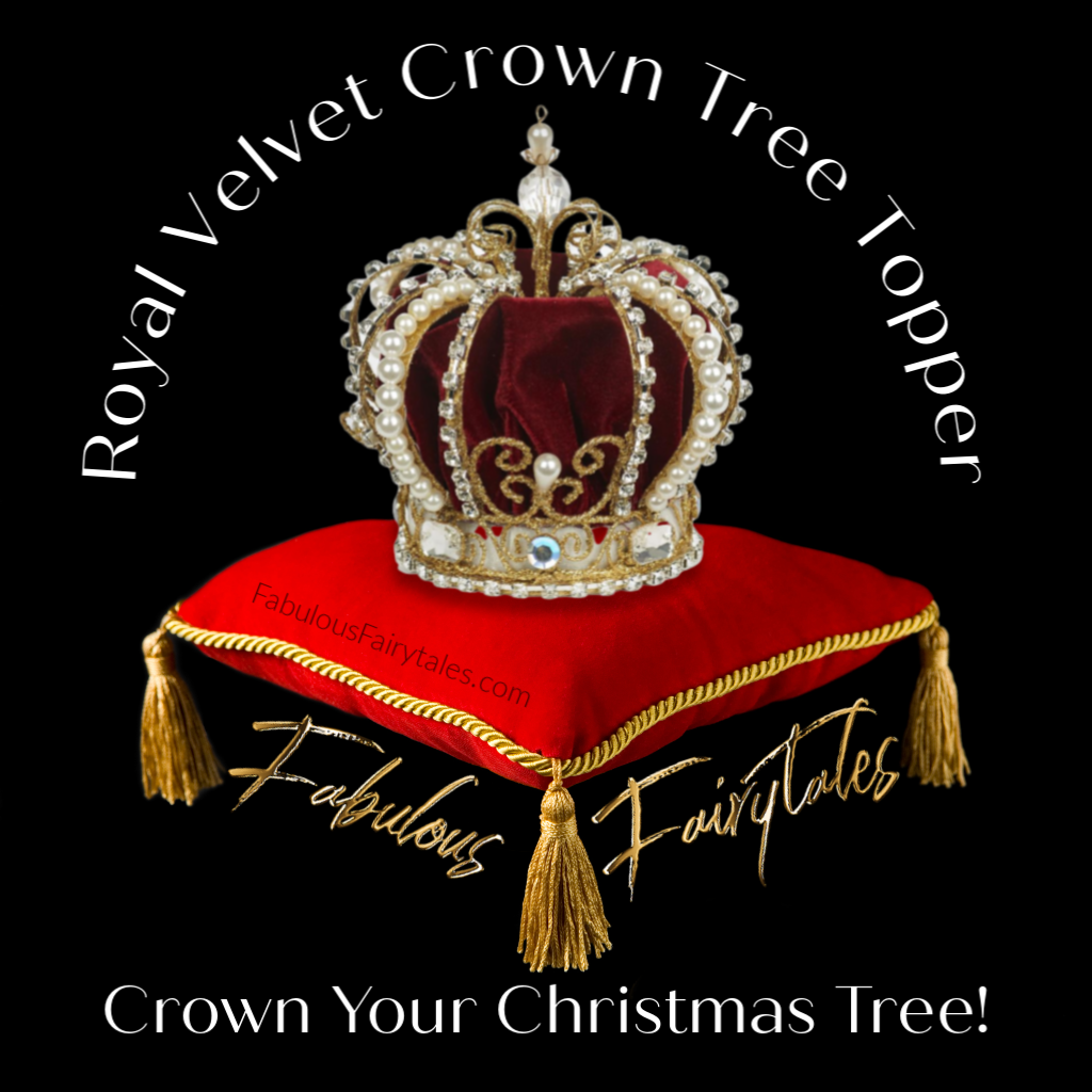 Goodwill Belgium Royal Red Velvet Crown Tree Topper