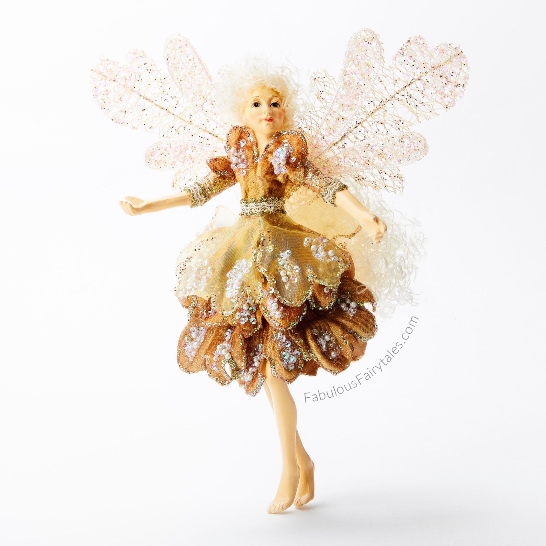 Luxury Christmas Fairy Ornament Peachy