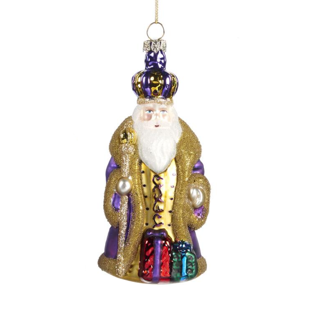 Wise King with Gift Glass Christmas Decoration Shop