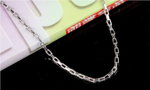 Men's Sterling Silver Box Chain Necklace