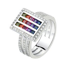 Load image into Gallery viewer, Sterling Silver Colors of the Rainbow Ring Collection - 13 Designs Available